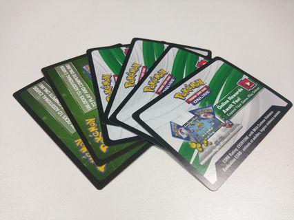 Pokemon TCG Online card codes