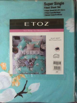 🚚 Etoz Super Single Fitted Bedsheets