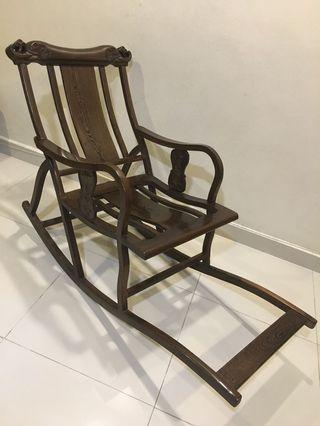 Antique solid rosewood rocking chairs