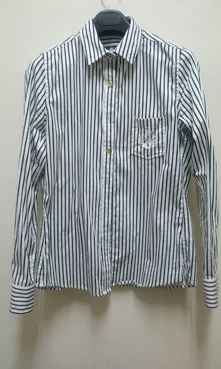 Olivo黑白條紋襯衫