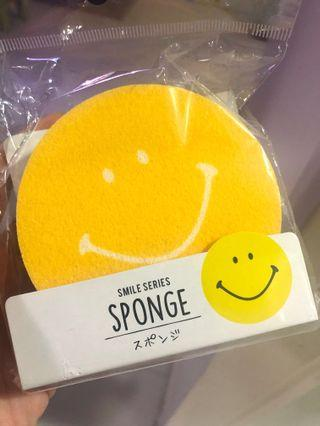 Smiley Face Sponge 海棉