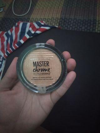 maybeline master chrome cus dijual baru 4 kali pake