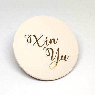🚚 Personalised coaster or cup lid