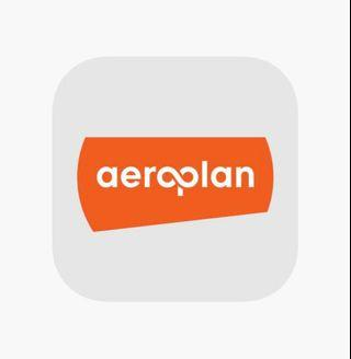 Aeroplan miles to your account