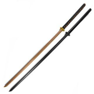 New Black Brown Wooden Training Bokken Katana Taichi Miao Sword