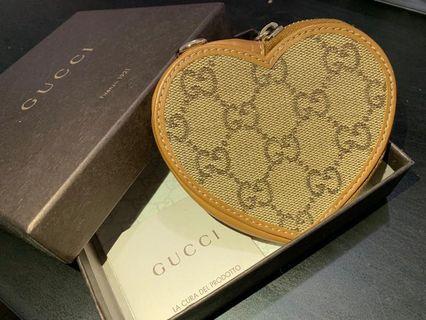 全新 原裝正品 Gucci 心形 散紙包 (有盒)
