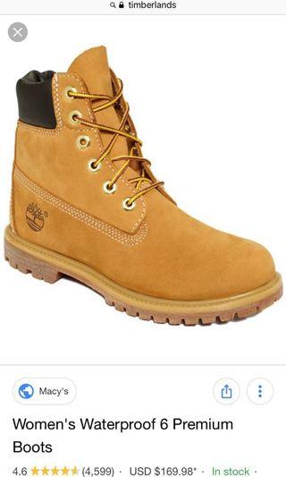 Women's timberland boots size 6-6.5