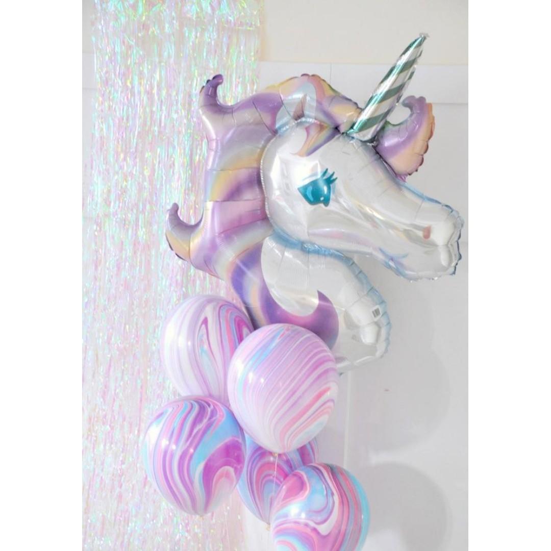 "33"" Pastel Unicorn Head"