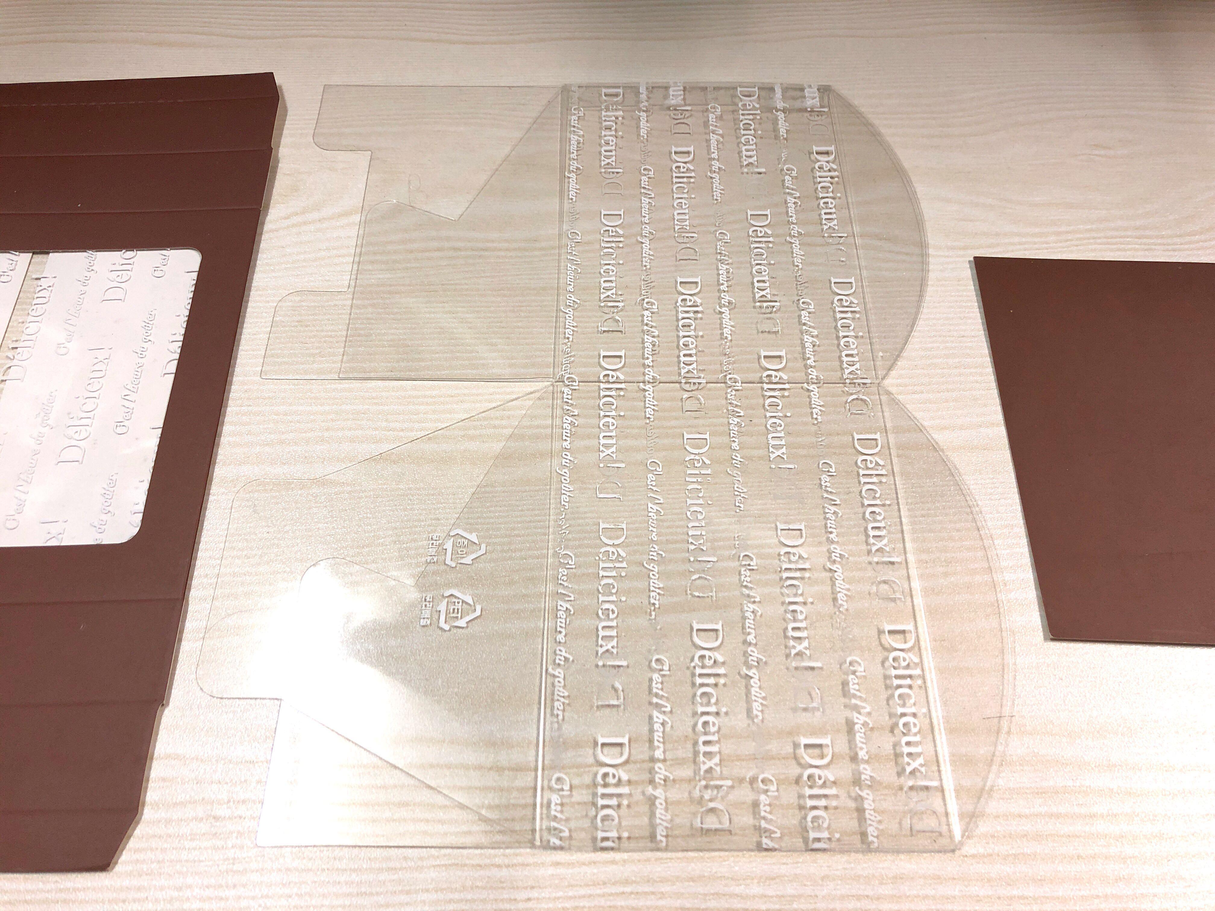 3個 咖啡色+透明蓋 英文字透明盒 烘焙 包裝盒