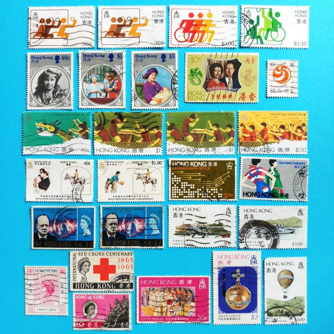英殖時期香港郵票(舊、散票)
