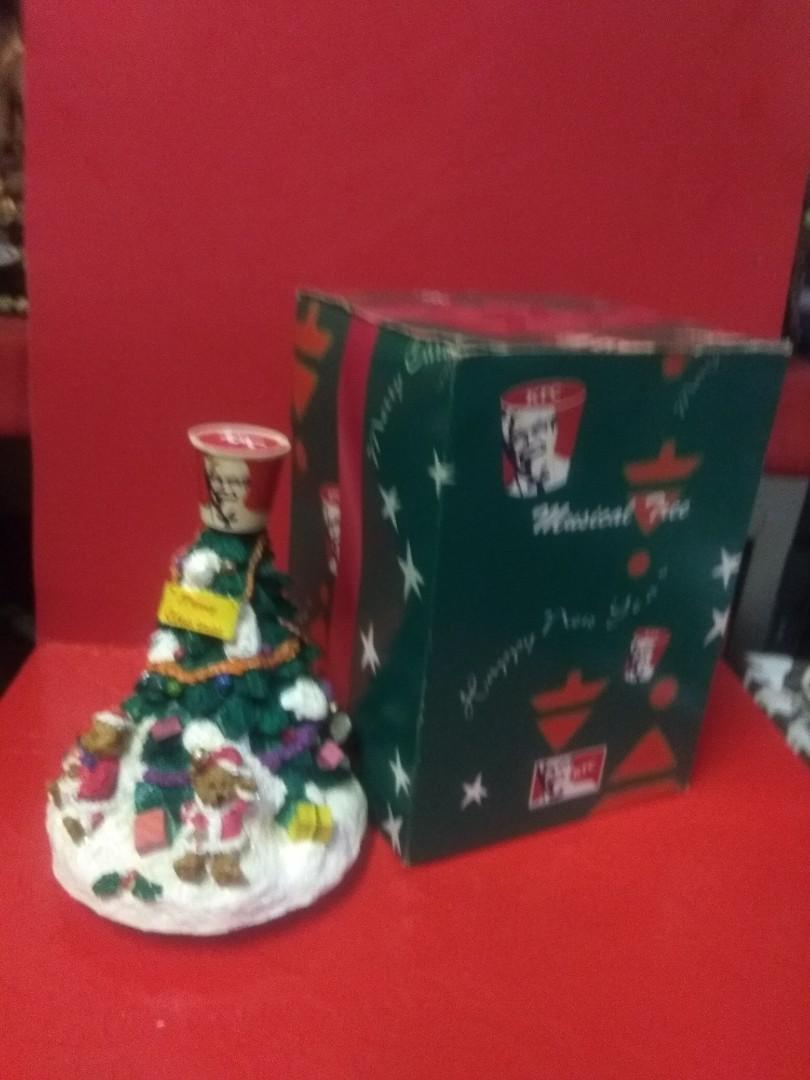 懷舊收藏 90年代KFC 聖誕樹音樂擺設