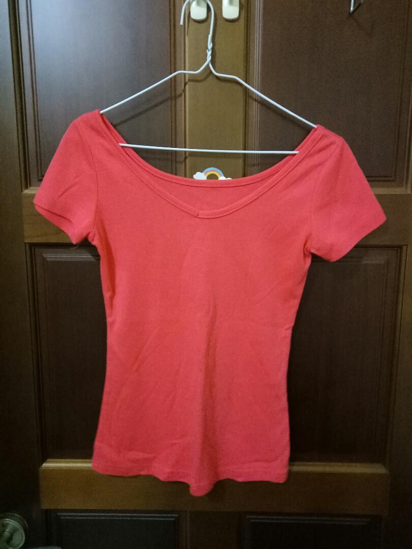 桃紅色 短袖