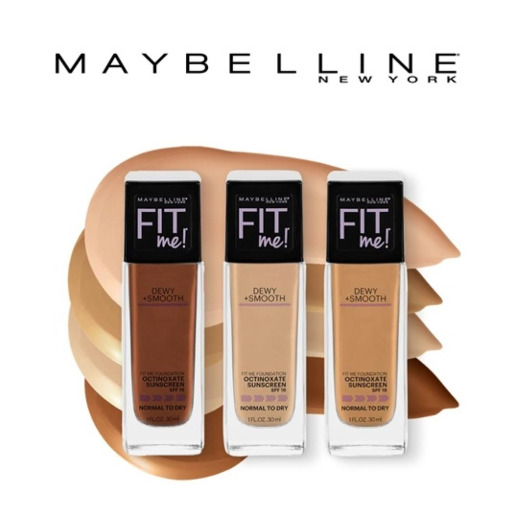 Instock 30 12 2020 Maybelline Fit Me Dewy Smooth Foundation Health Beauty Makeup On Carousell