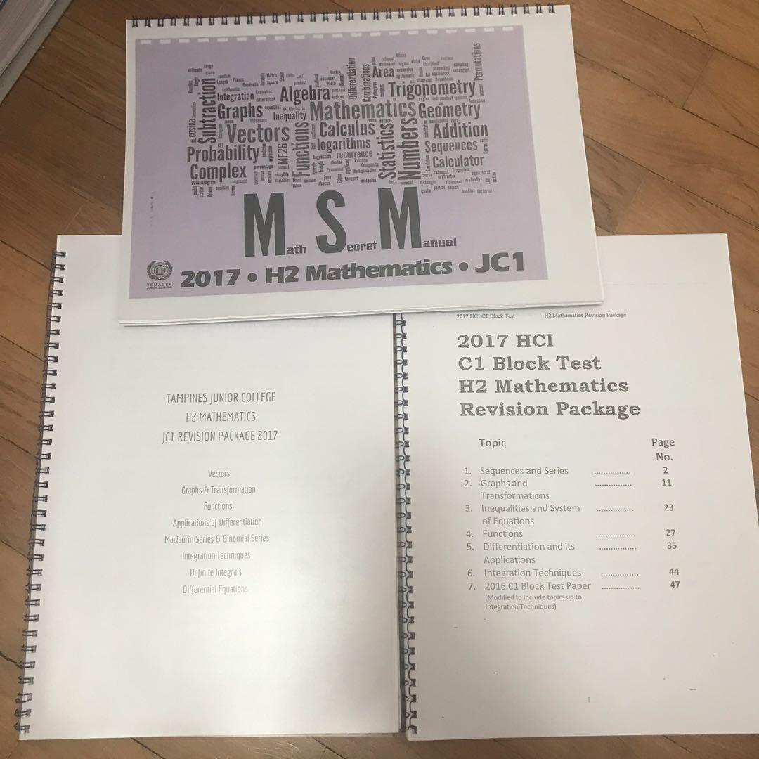 A'level Materials from Various JCs
