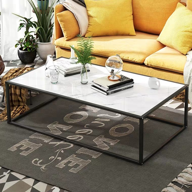 Wire Frame Coffee Table.Aspen Minimalist Wire Frame Marble Coffee Table