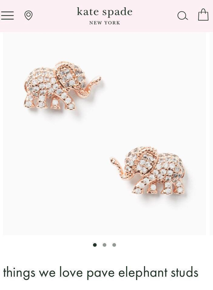 efb8c3f9f910 Authentic Kate spade earrings studs, Luxury, Accessories, Others on  Carousell