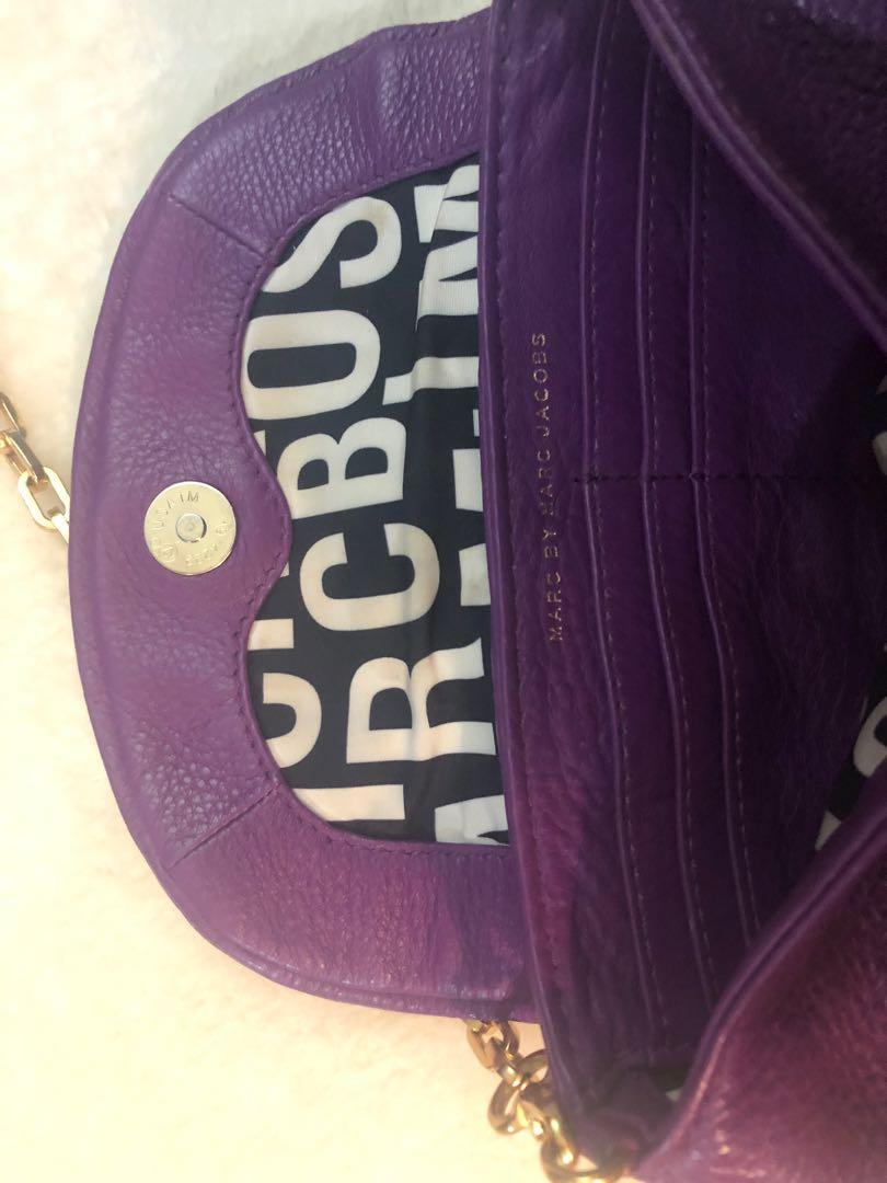 Authentic MARC by Marc Jacobs Classic Q Karlie Crossbody Bag, Purple