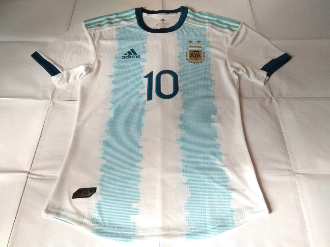 2de4a26fe Authentic Never Been Worn Argentina Adidas Player Version 2019 Home  Football Jersey With Messi 10 Print