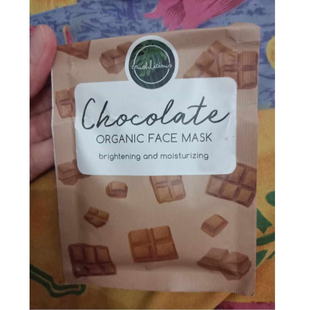 #BAPAU Masker Curshlicious Chocolate, Masker Wajah, Masker Coklat