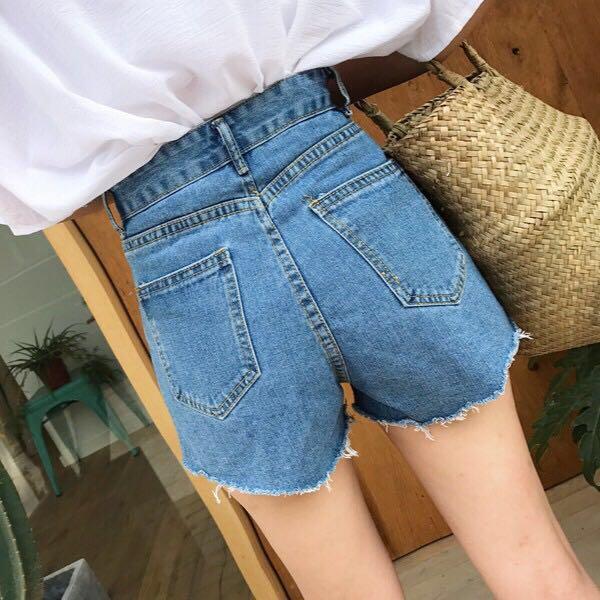 🔥Blue Denim Casual Ripped Ulzzang Shorts