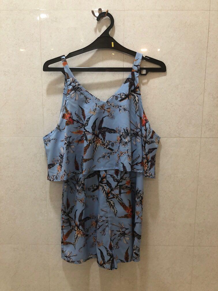 Blue Flower Jumpsuit