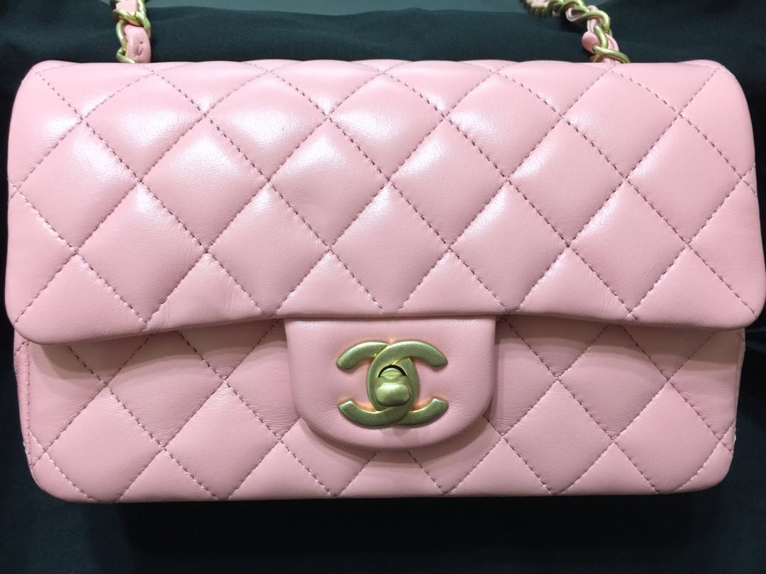 39e709955e86 BNIB 19S 28 series Chanel Limited Edt Mini Rectangular Flap in Pink ...