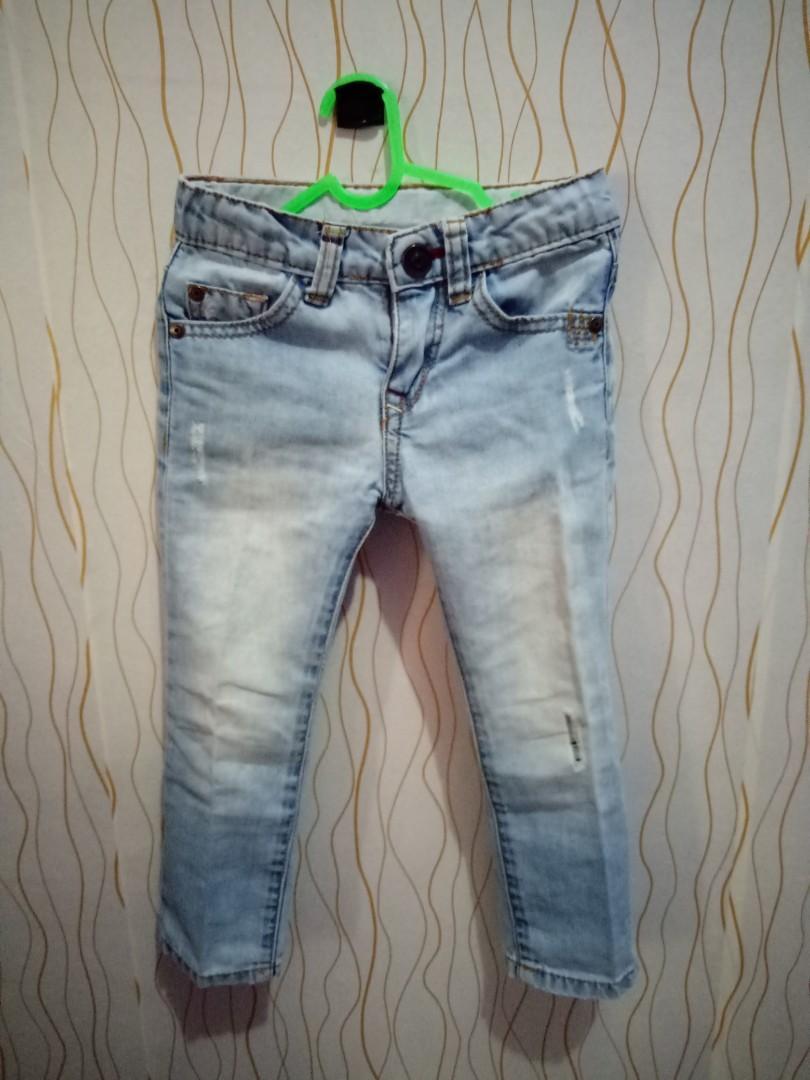 Celana Ripped Jeans Zara Kids 2-3th