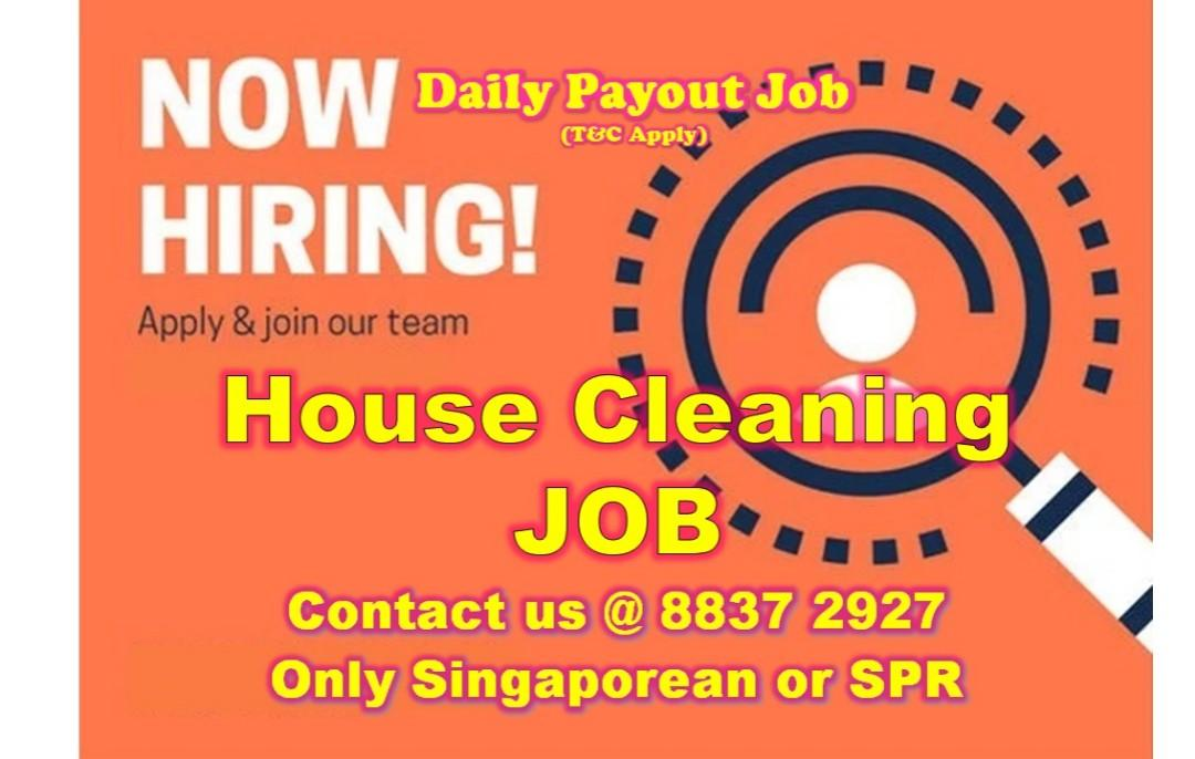 Daily Payout House Cleaning Job