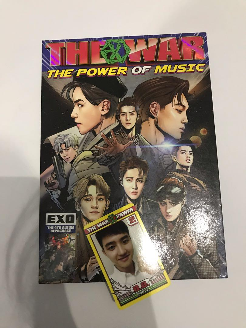 """EXO The War 4th Repackage Album """"The Power of Music"""""""