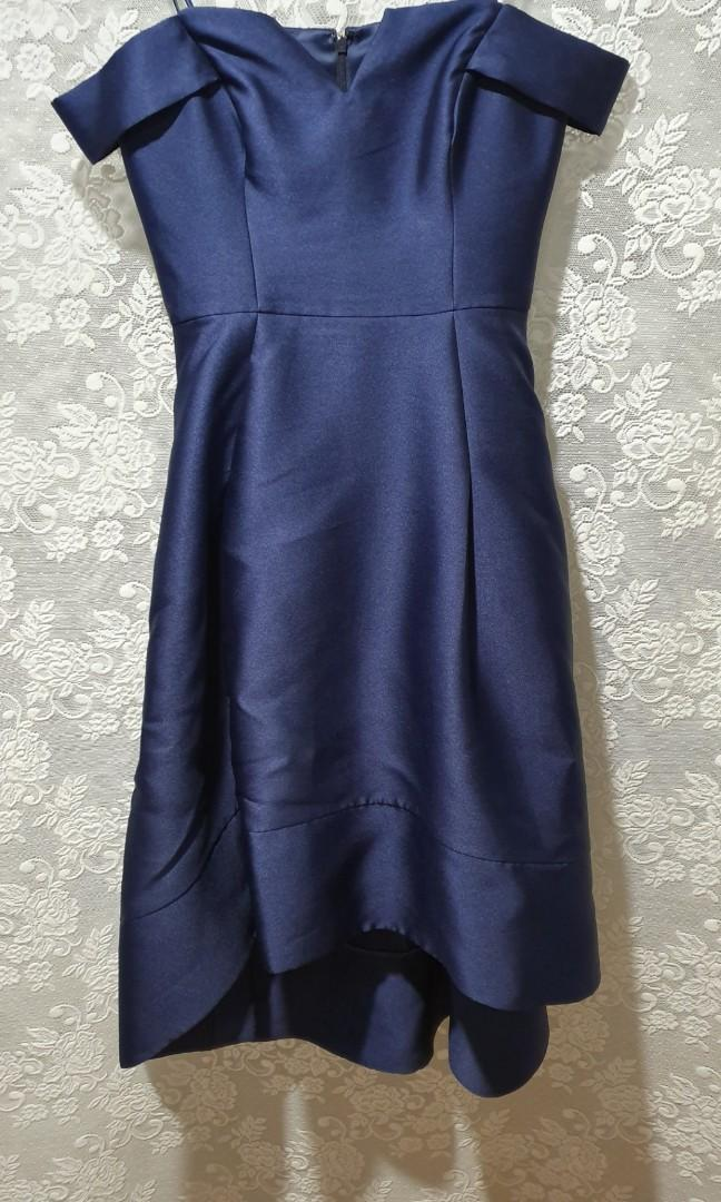 Forever New formal dress navy blue size 10