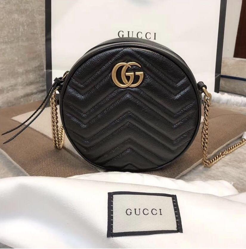 92bac9361 GUCCI MARMONT ROUND BAG on Carousell