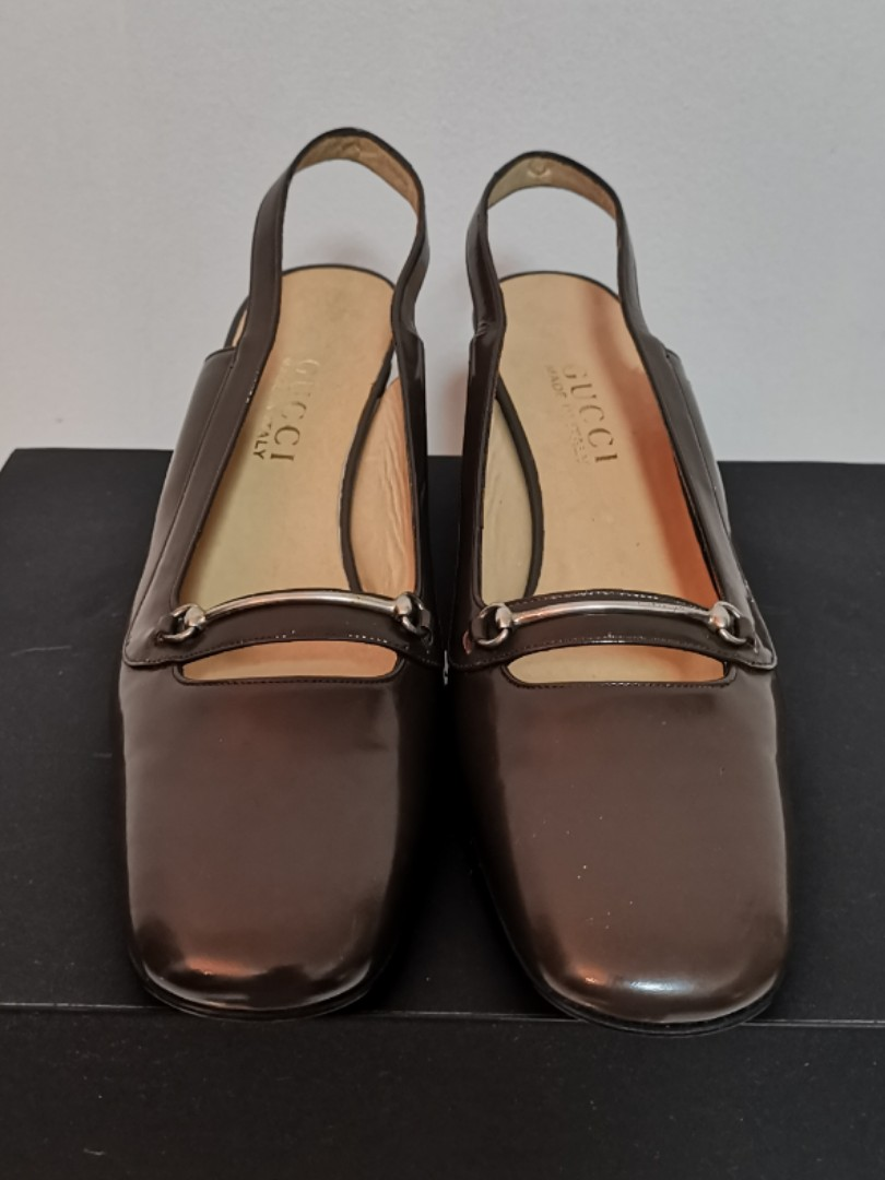 51b1aa596 Gucci Vintage Sling-back Heels / Walter Steiger Dorsay, Women's Fashion,  Shoes, Heels on Carousell