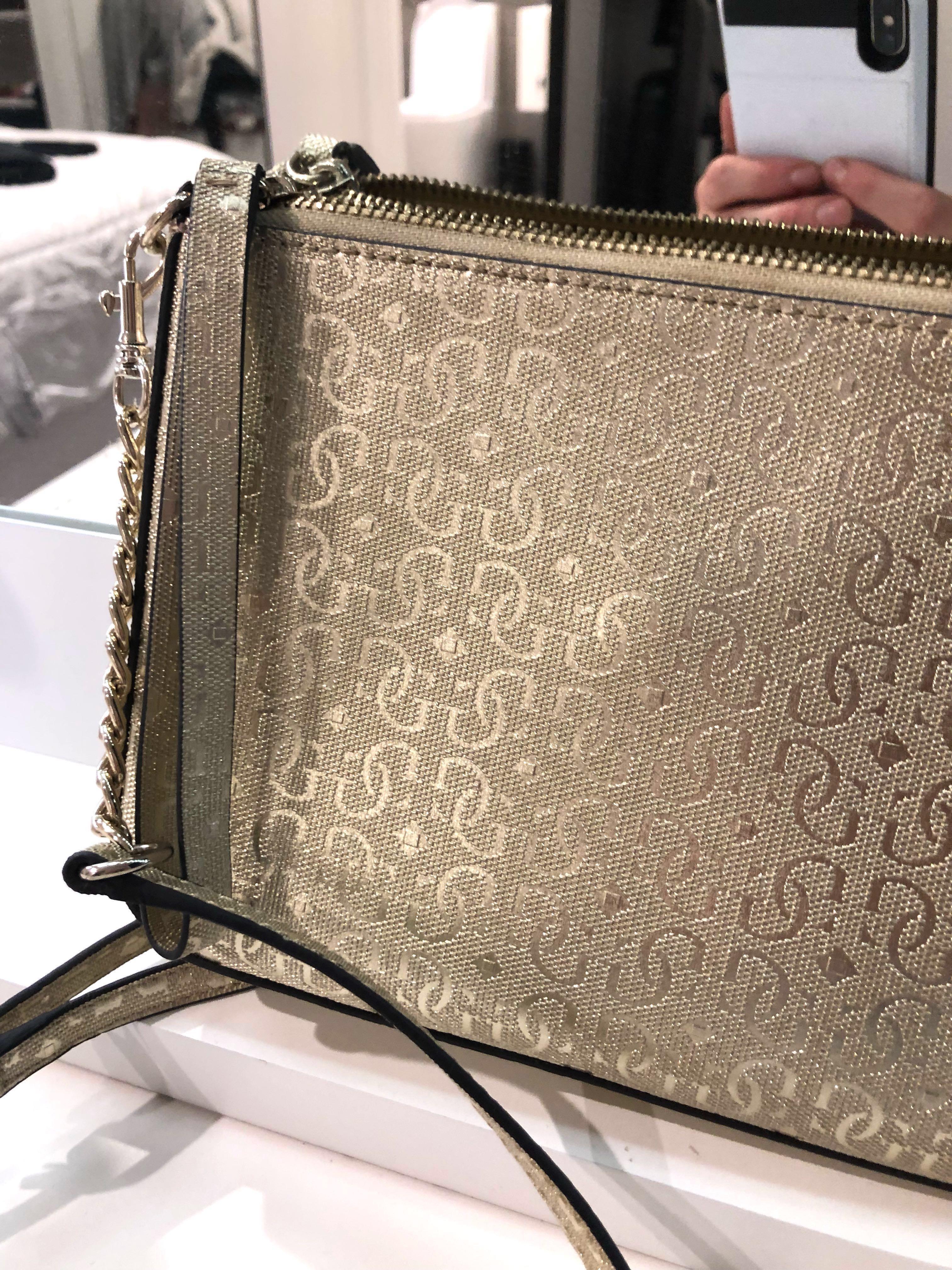 Guess gold bag