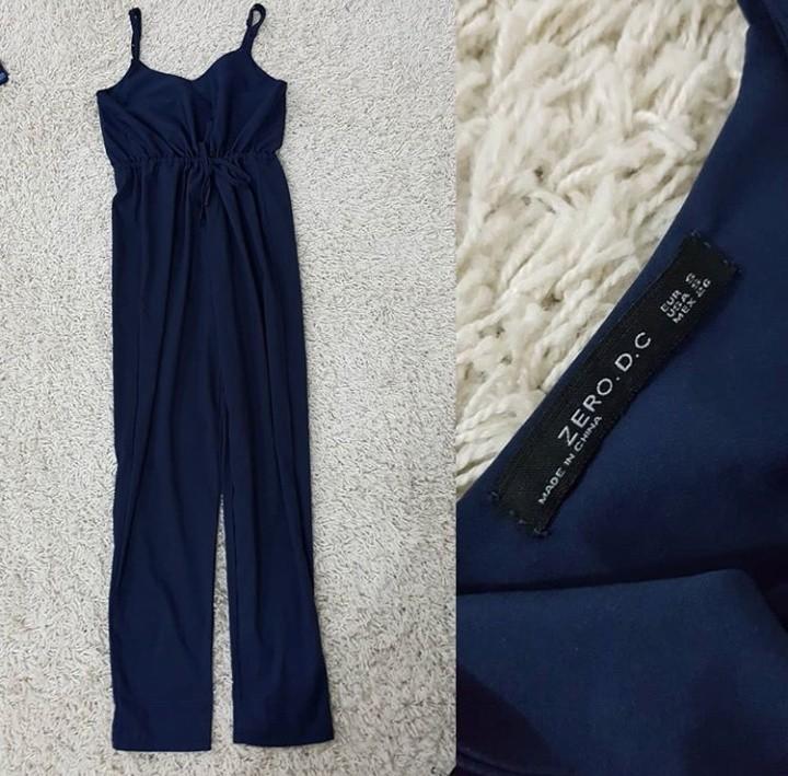 Jumpsuit navy import ( jumpsuit bkk / jumpsuit panjang / jumpsuit Bangkok / jumpsuit Cantik / jumpsuit keren / long jumpsuit / jumpsuit bkk