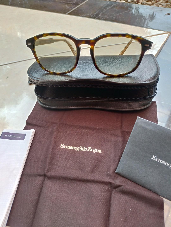 Kacamata sunglass ermenegildo zegna authentic original fullset