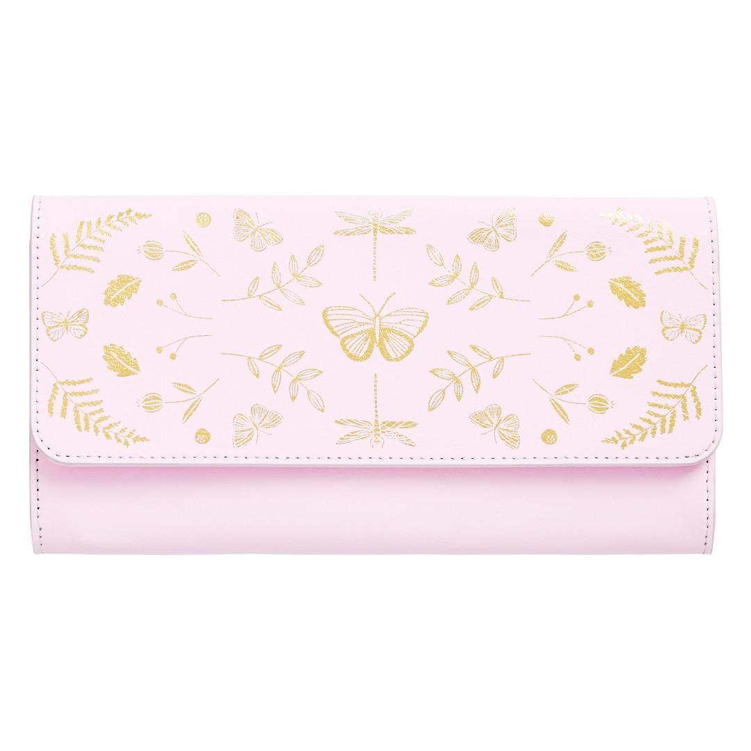 Kikki K slim leather travel wallet - petal pink