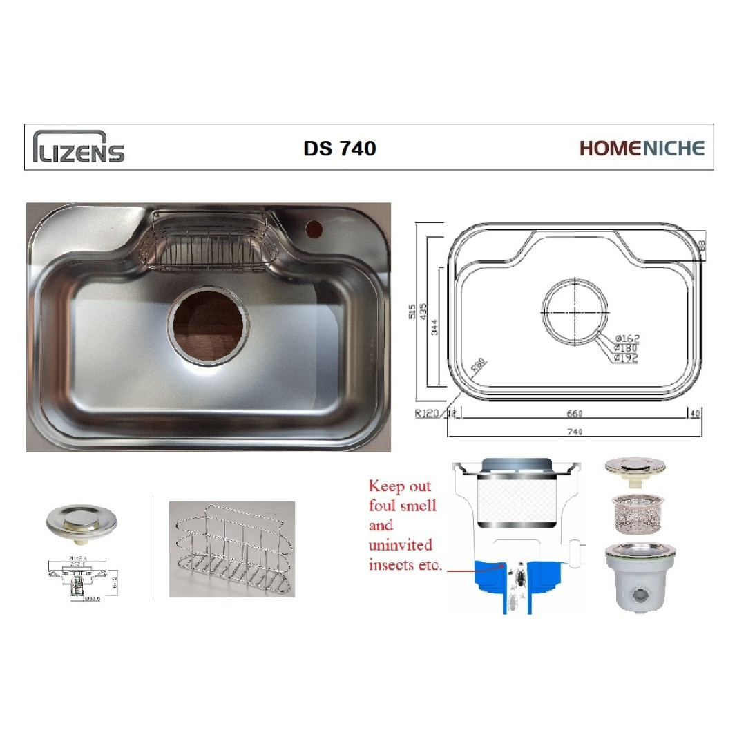 Korean jumbo sink ds740 home appliances on carousell