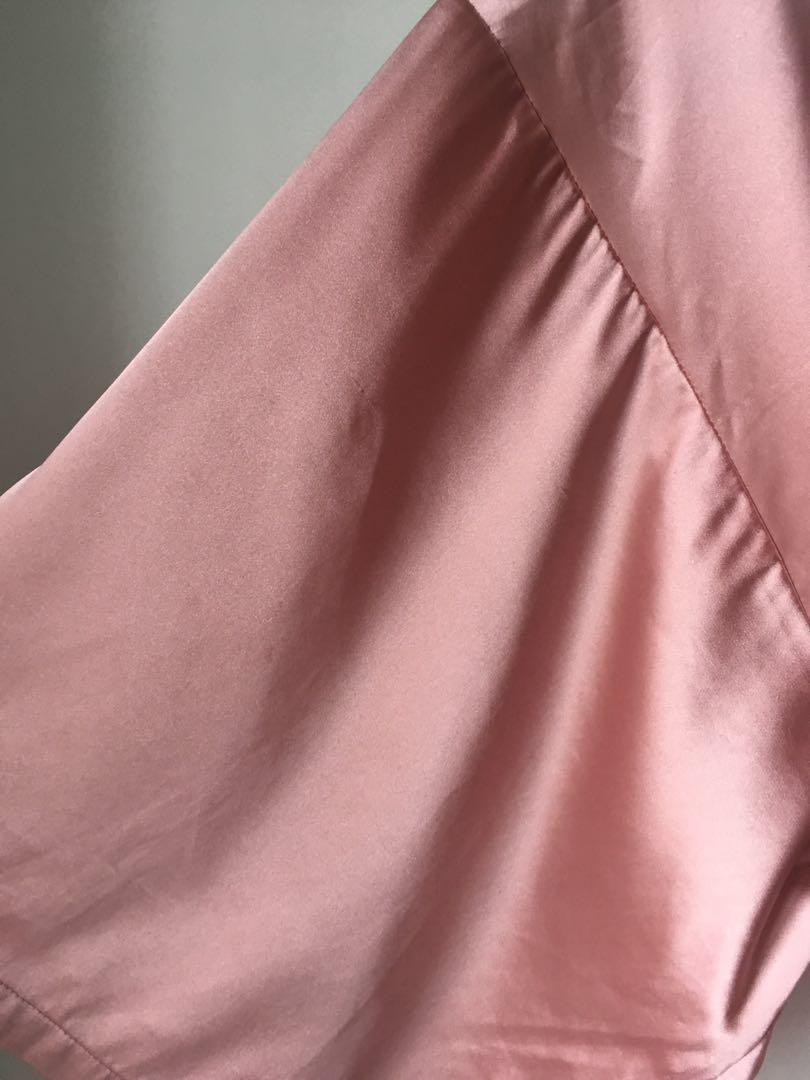 LaSenza satin robe or kimono in pink with lace back