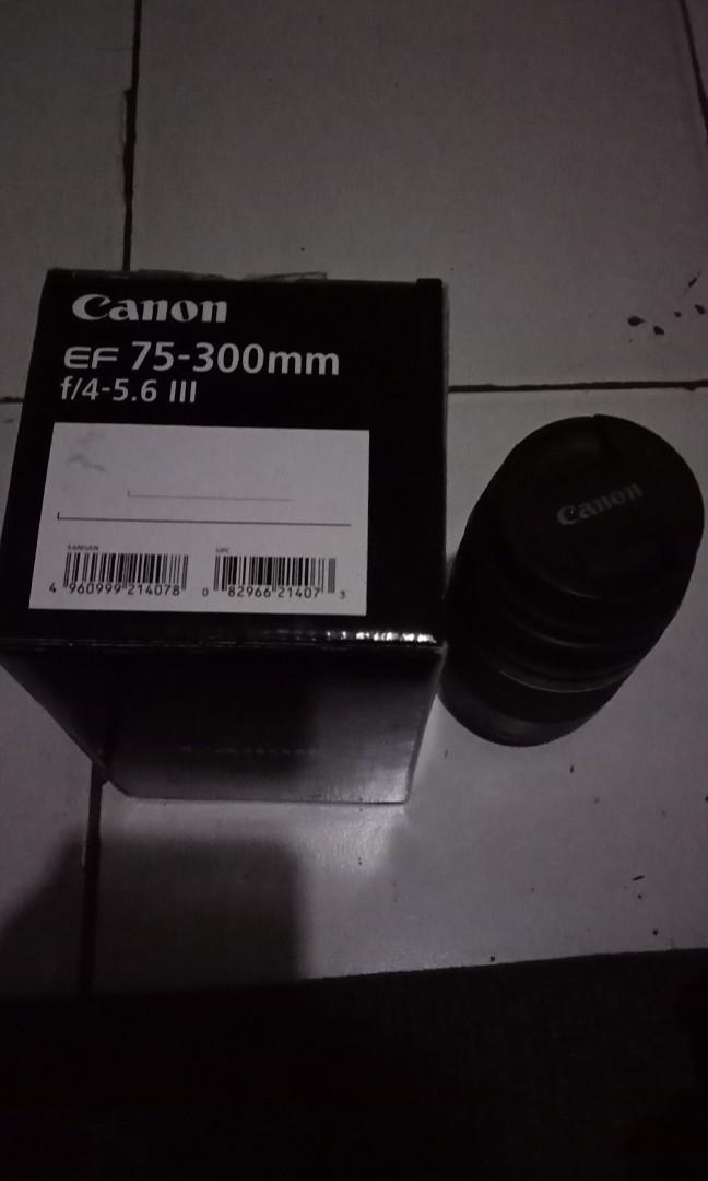 Lensa canon telle EF75-300 F/4-5.6 III