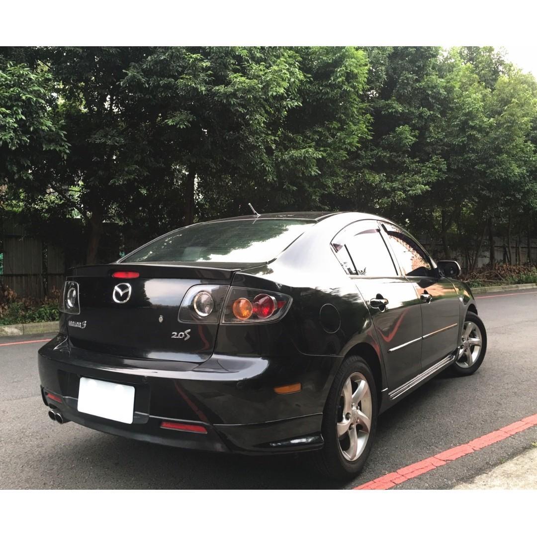 MAZDA M3 馬三 2006年 黑 二手車 便宜 2.0L 低利率 全額貸 貸款強 過件高