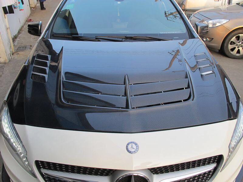 Mercedes w176 Varis Carbon Fiber Bonnet