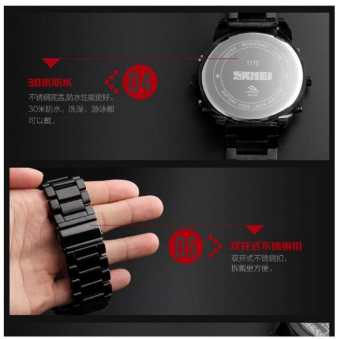Murah Jam Tangan Pria SKMEI Dual Time Jumbo Watch Original