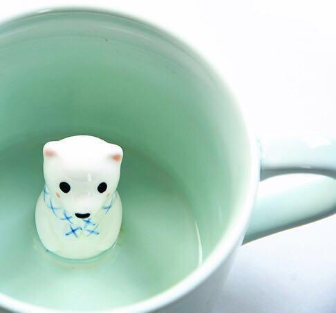 NEW! Mint Cute Animal Ceramic Cup