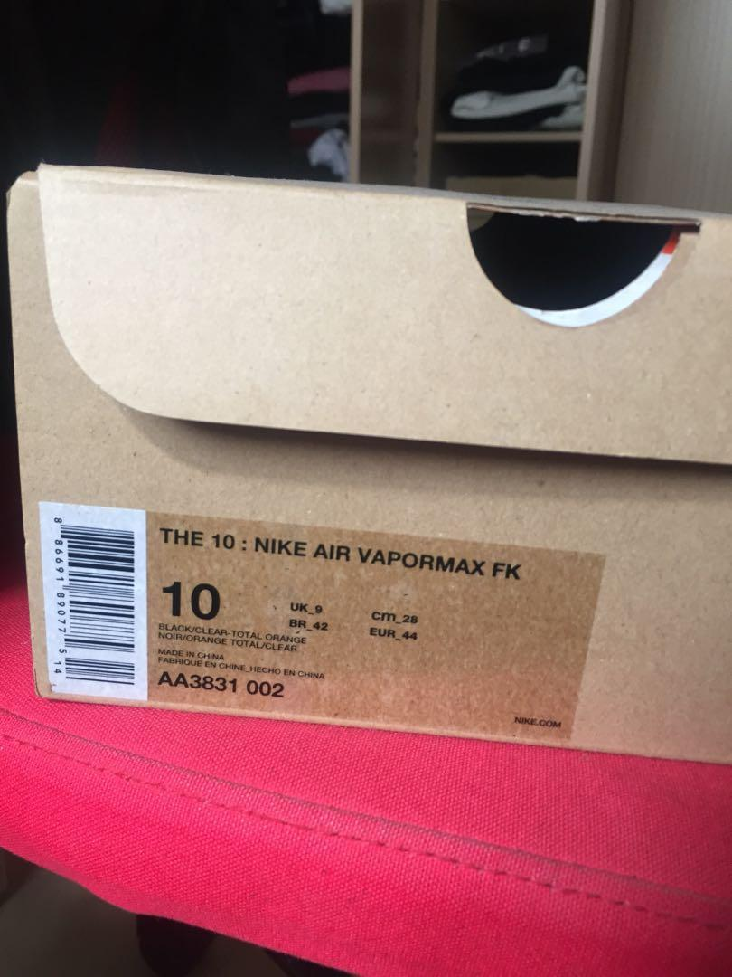 Nike off white vapormax 2.0黑
