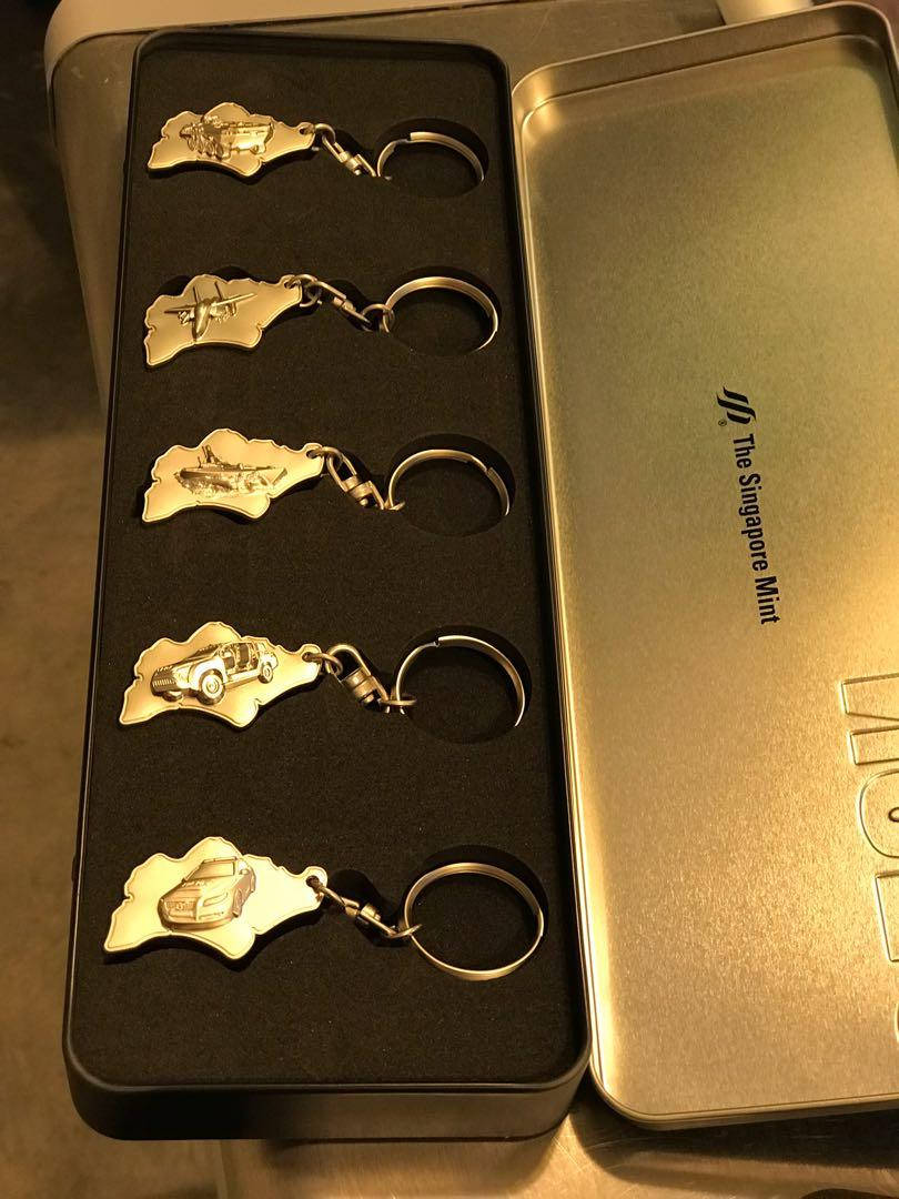 NS50 - 5 in 1 keychains set from Singapore mint 2017