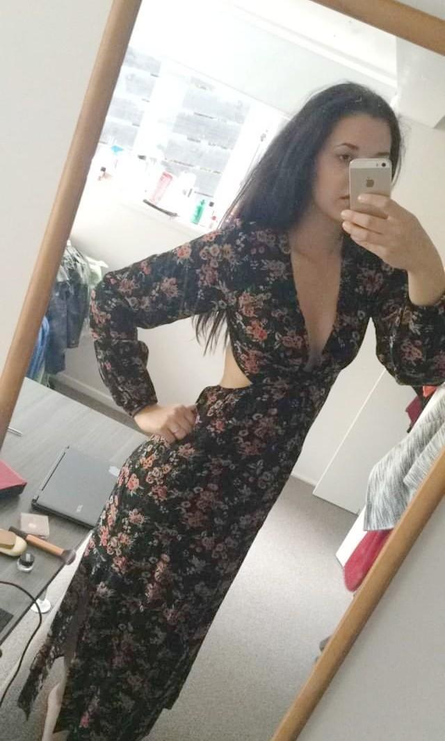 Nunui Florar Dress with Cut outs