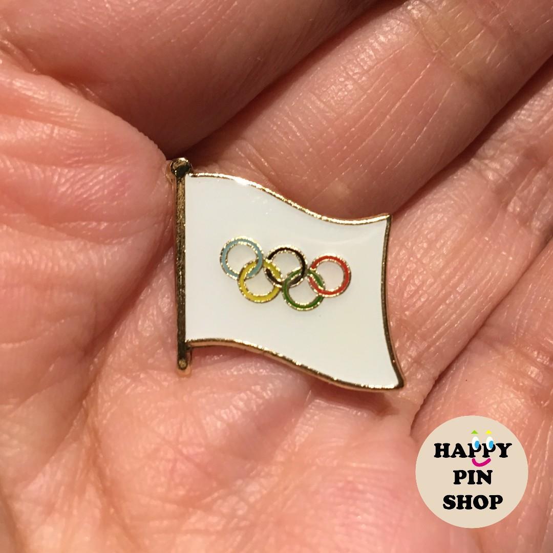 Olympic Flag collar pin, lapel pin, brooch badge