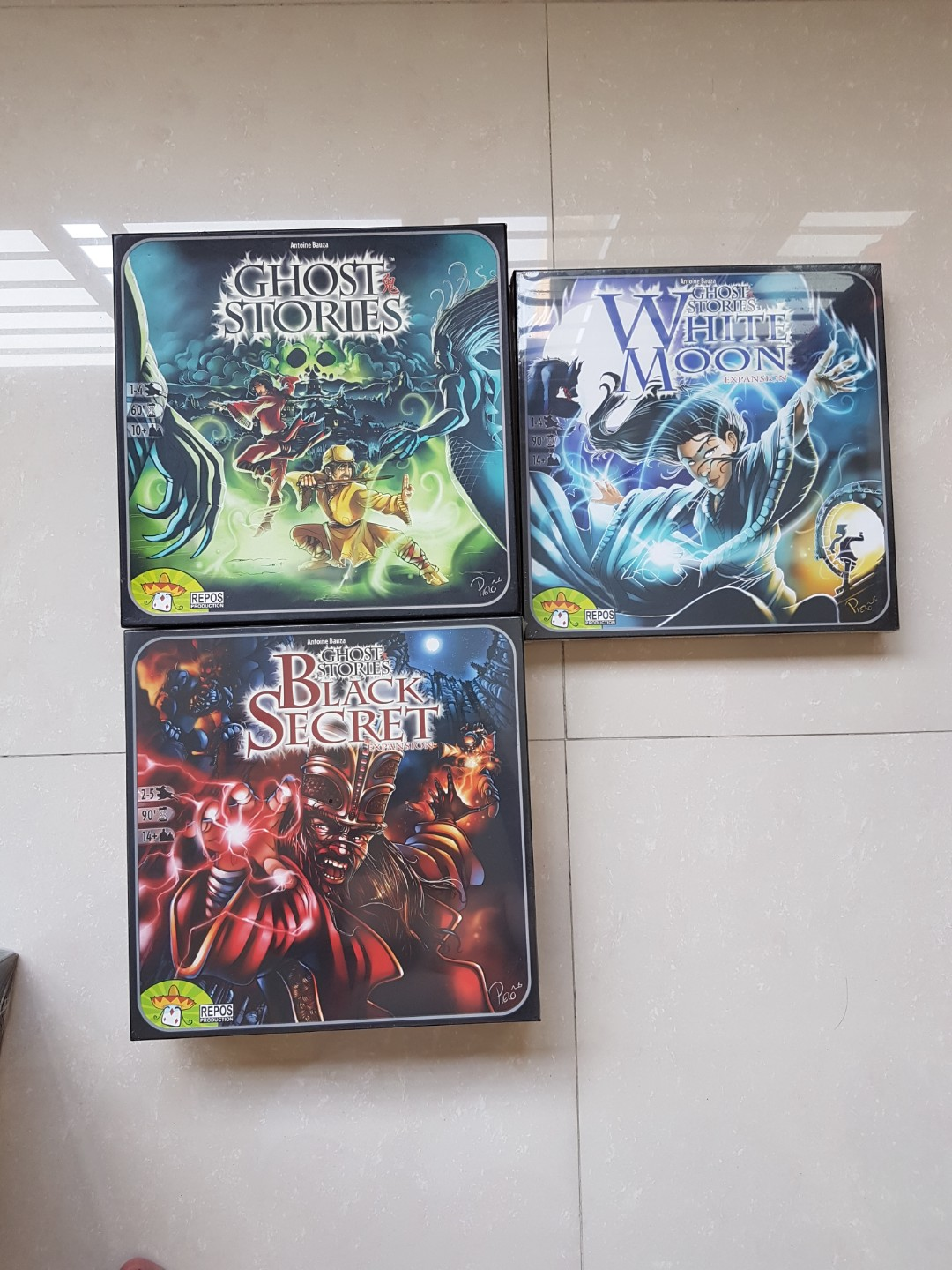 (Painted) Ghost Stories + 2 Expansions Brand New Board Game