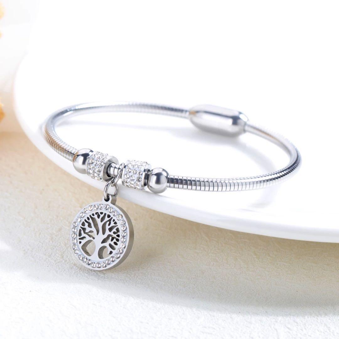 044503da1 Pandora design bracelet stainless steel with cubic zirconia silver ...