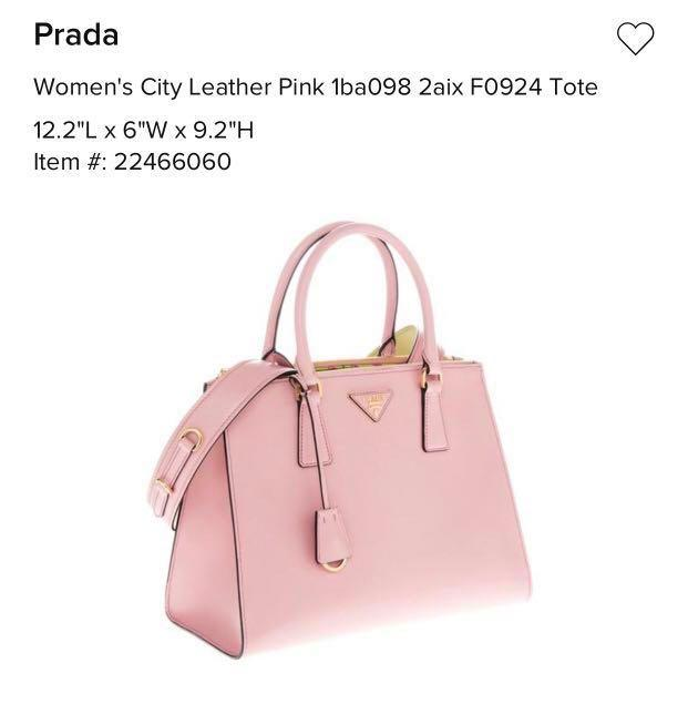 Prada Lux leather tote with strap